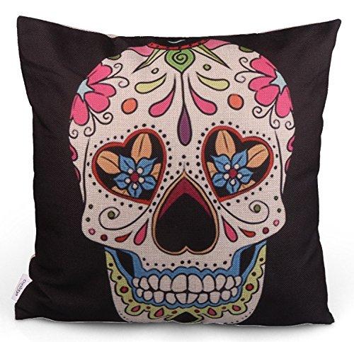 Super offerta.-Day of the Dead, del giorno dei morti, Mexico, Fiesta Mexican Sugar Skull Cuscino, federa per cuscino, Día de los Muertos/Original De...