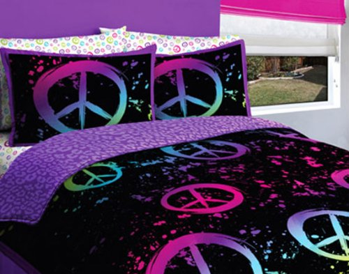 Purple And Green Bedding 3873 front