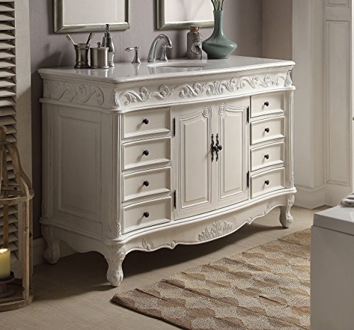 56 antique white beckham bathroom sink vanity model cf 3882w aw 56