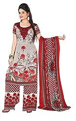 Khushali Presents Printed Crepe Dress Material (Multi)