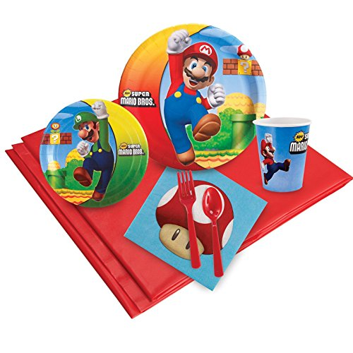 Super Mario Bros Party Supplies - Party Pack for 8