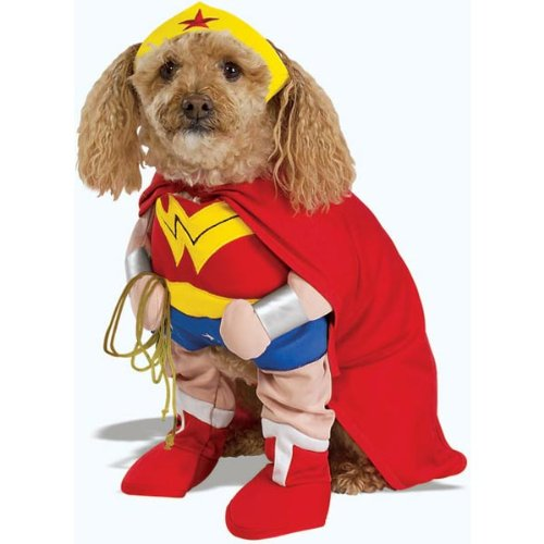 Wonder Woman Dog Halloween Pet Costume Size Large