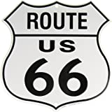 Route 66 Vintage Metal Sign - Nostalgic and Retro Reproduction of the Old Rt. 66 Shield