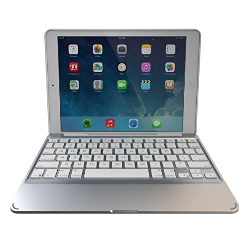 ZAGG Slim Book Case Ultrathin Hinged with Detachable Backlit Keyboard for iPad Air 2 - White (ID6ZF2-WW0)