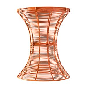 SEI Indoor/Outdoor Round Metal Accent Table, Orange
