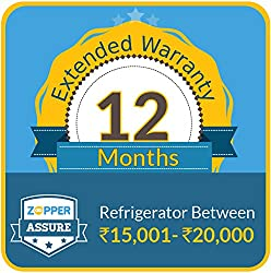 Zopper Assure 12 Months Extended Warranty for Refrigerator (Rs 15001 - 20000)