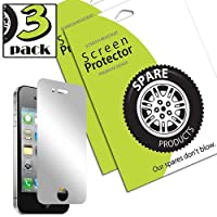 Spare Products Screen Protector Film for iPhone 4 & 4S - (3 Pack) Mirror