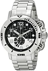 Swiss Legend Men's 10538-11 Scubador Analog Display Swiss Quartz Silver-Tone Watch