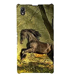 EPICCASE Racing Horse Mobile Back Case Cover For Sony Xperia Z1 (Designer Case)