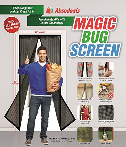 Magic Bug Screen  Magnetic Screen Door  Mesh Curtain, 39x83-Inch (Rv Magnetic Screen Door compare prices)