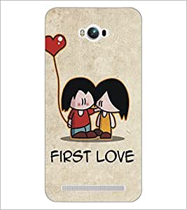 PrintDhaba Love D-5338 Back Case Cover for ASUS ZENFONE MAX ZC550KL (Multi-Coloured)