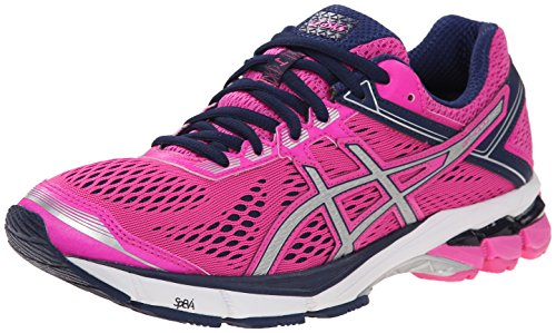 ASICS Women's Gt-1000 4 Running Shoe, Pink Glow/Silver/Indigo Blue, 8 M US