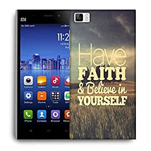 Snoogg Believe In Yourself Designer Protective Back Case Cover For Xiaomi Mi 3