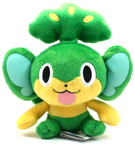 "Pokemon Best Wishes Banpresto Plush - 47242 - 7.5"" Chibi Sitting Pansage/Yanappu - 1"