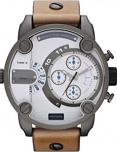 QFDZHS®diesel hombres reloj de cuarzo impermeable de los deportes de calendario reloj de pulsera de cuero genuino Relogio reloj montre masculino