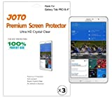 JOTO - Samsung Galaxy Tab Pro 8.4 inch Tablet Premium Screen Protector Film Ultra Crystal Clear (Invisible) with Lifetime Replacement Warranty, SM-T320 / SM-T321 / SM-T325 (3 Pack)