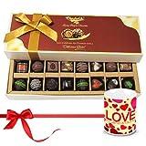 Valentine Chocholik Belgium Chocolates - Sweet Happiness With Dark And Milk Chocolates With Love Mug