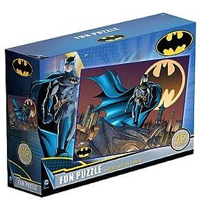 DC Comics Marvel Superman & Batman 2 x 45 Piece Jigsaw Puzzle Bundle - Pack of Two
