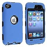 eforCity Hybrid Case for Apple iPod touch 4G – Black Hard/Blue Skin