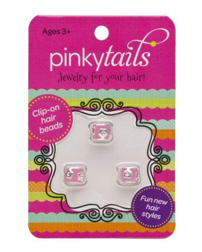 Pinkytails Hair Jewelry Clips, Pink Flowers - 1