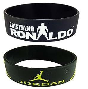 ESHOPPEE Ronaldo and Jordan wrist bands combo