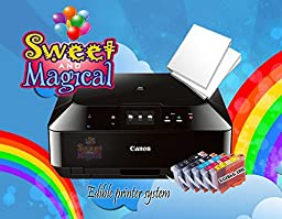 EDIBLE PRINTER BUNDLE-CANON WIRELESS,ALL IN ONE EDIBLE INK CARTRIDGES AND EDIBLE PAPER