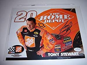 Autographed Tony Stewart Picture - Home Depot Jsa co 8x10 Glossy - Autographed NASCAR... by Sports Memorabilia