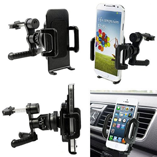 Iuhan® Fashion 360° Car Air Vent Mount Cradle Holder Stand For Mobile Smart Cell Phone GPS (Air Conditioner Phone Holder compare prices)