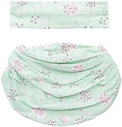 Lovespun Baby Perfect Picture 2 Piece Headband and Infinity Bib Set, Flowers/Butterflies, 0-6 Months
