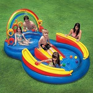 Scivolo gioco gonfiabile piscina intex cm 297x193xh135 con - Gonfiabili piscina amazon ...