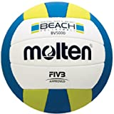 Molten Elite Beach Volleyball (FIVB Approved, Official Outdoor Volleyball of USA Volleyball, Blue/Yellow)