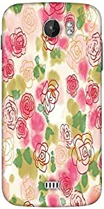 Snoogg Flower Style Designer Protective Back Case Cover For Micromax A110