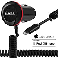 Car Charger with Integrated Apple MFi Certified Lightning Coiled Cable for iPhone 6s /6s Plus / 6 /…