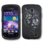 IMAGITOUCH 4 Item Combo For SAMSUNG Illusion Galaxy Proclaim i110 S720 (Verizon Straight Talk) Rubberized Design Hard Shell Case Cover Phone Protector Faceplate - Silver Dragon Skulls (Stylus Pen, ESD Shield Bag, Pry Tool, Phone Cover)