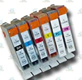 6 Chipped Compatible Canon CLI-8 'Photo-Pack' Ink Cartridges Cartridges for Canon Pixma iP6700D