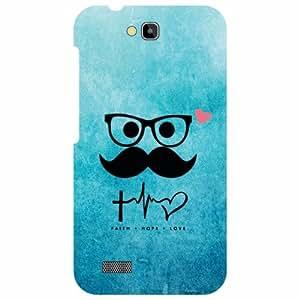 Honor Holly Hol-U19 Back Cover - Mustach Designer Cases