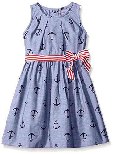 Good Lad Toddler Girls Anchor Print Dress, Navy, 4T