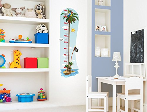 i love wandtattoo m 13 009 kinderzimmer messlatte pirat zum kleben beschriften und selbst. Black Bedroom Furniture Sets. Home Design Ideas