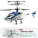 Lujex JXD 340 Drift King 4 Channel Infrared RC Helicopter Gyro IR Remote Control Mini Metal / Blue