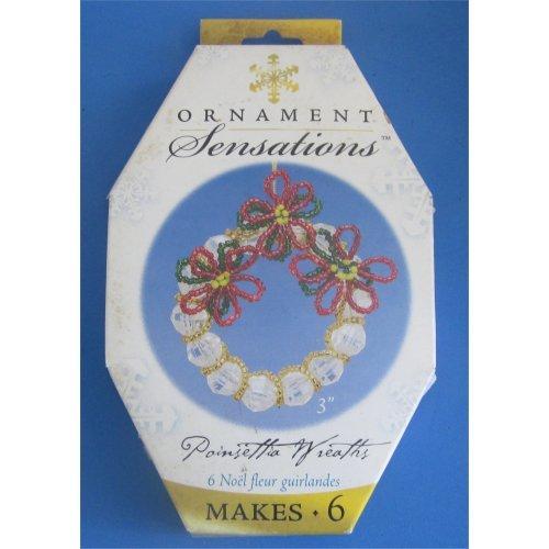 6 Poinsetta Ornament Craft Kits - 1