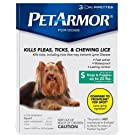 Petarmor for Dogs and Puppies up to 22 lbs. 3 pipettes