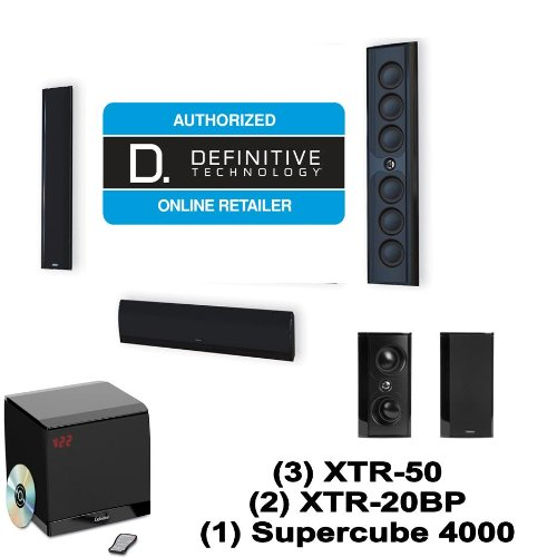 Definitive Technology Mythos Xtr-50 5.1 Speaker System With Xtr-20Bp And Supercube 4000 (Black)