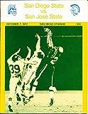 1972 10/7 San Diego State vs San Jose State Football Program bx7173