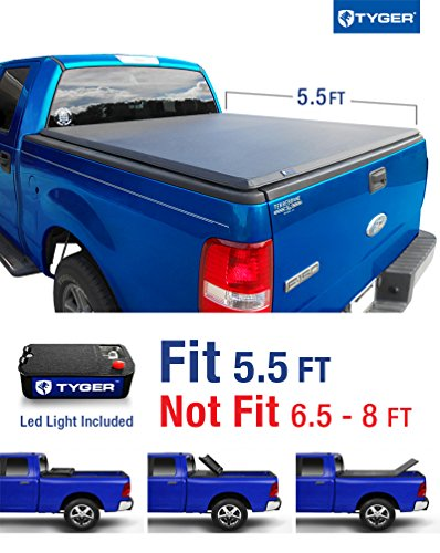 Tyger Auto TG-BC3F1016 Tri-Fold Pickup Tonneau Cover (Fits 04-08 Ford F-150 (NOT 04 F-150 Heritage Model); 05-08 Lincoln Mark LT Crew Cab 5.5 feet (66 inch)) (Tonneau Covers For Ford F150 compare prices)