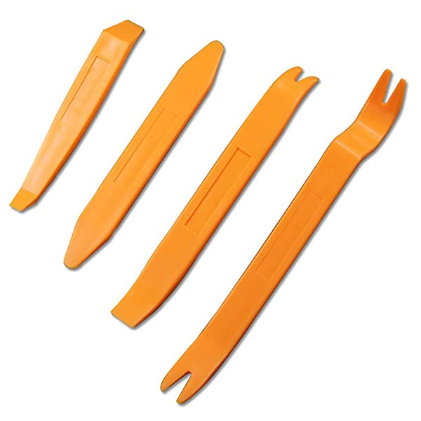 Auto Door Disassembly Tools Kit Plastic car Radio Removal Tool kit DVD Player Stereo Refit Interior Trim Panel Dashboard Removal Pry Car Interior Tool Kit 4pcs Car Tools Kit