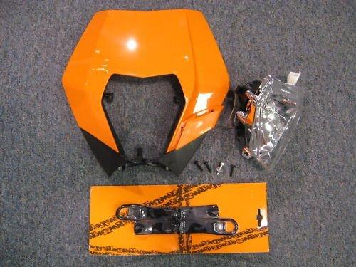 KTM 2008-2012 200 250 300 450 530 XC EXC XCW HEADLIGHT ASSEMBLY ORANGE MASK KIT (Ktm 300 Headlight Switch compare prices)