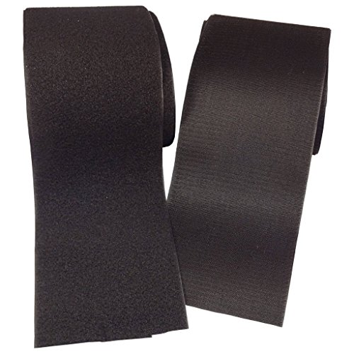 Ninepeak - 3 Inches Black Sew on Hook and Loop Velcro Style, 2 Yards (Sewing Velcro compare prices)