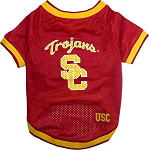 USC Trojans Dog Jersey Leash & Collar Set Medium by Miage Pet Products