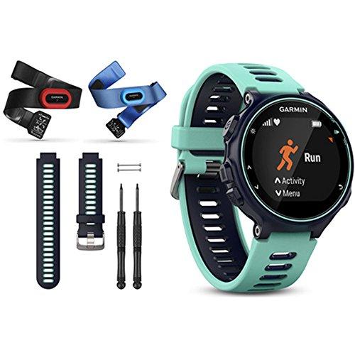 Garmin Forerunner 735XT GPS Running Watch Tri-Bundle with Midnight Blue Band (Midnight Blue)