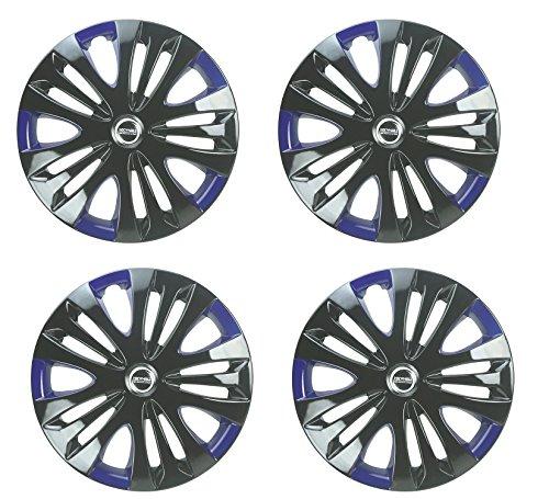 Hotwheelz Black Blue 12 inch Wheel Cover for Hyundai Eon (Set of 4)